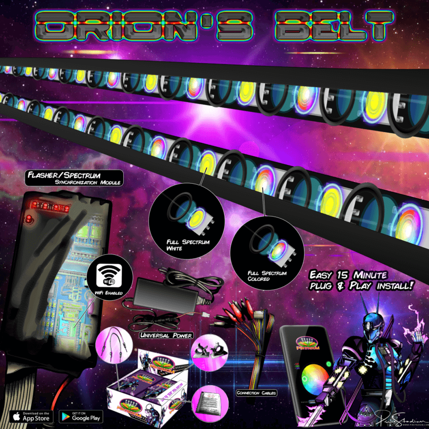 Orion's Belt Pin Stadium Pinball LED Flasher Lights