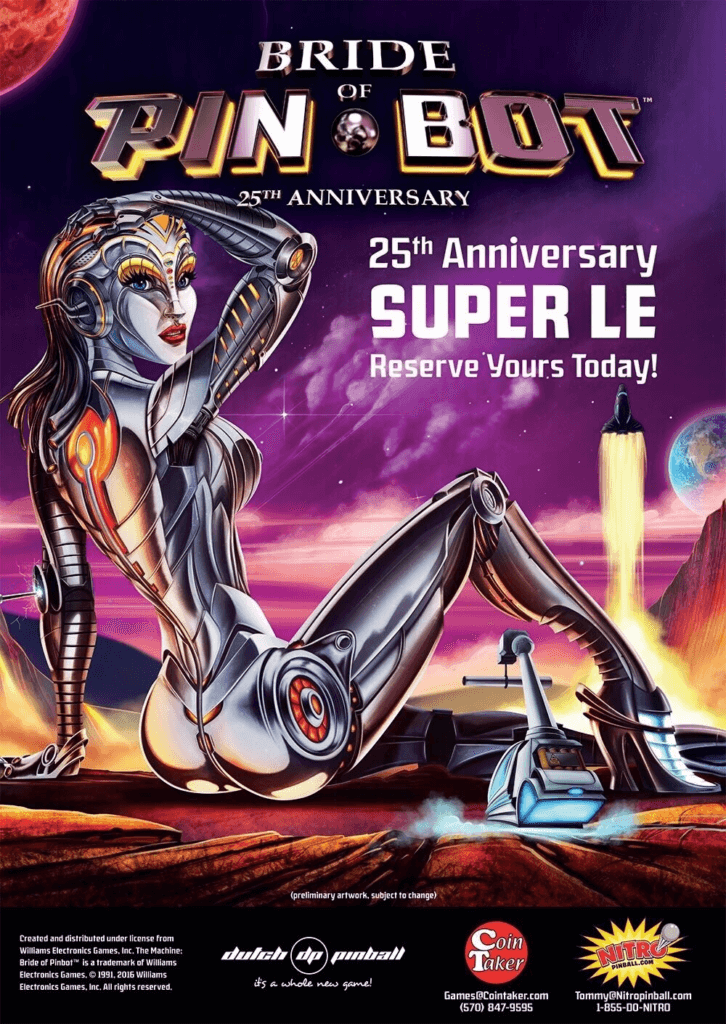 Bride of Pinbot: 25th Anniversary Super LE Pinball Mods