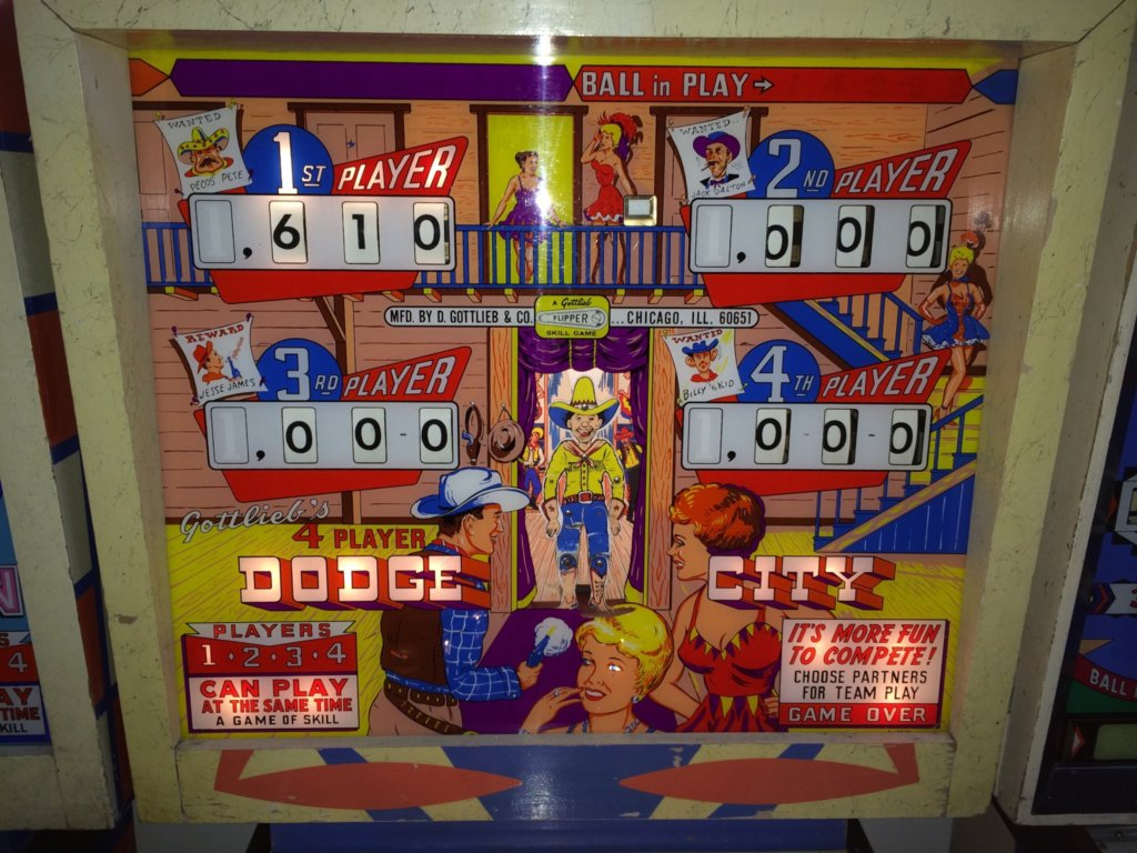 Dodge City Pinball Mods