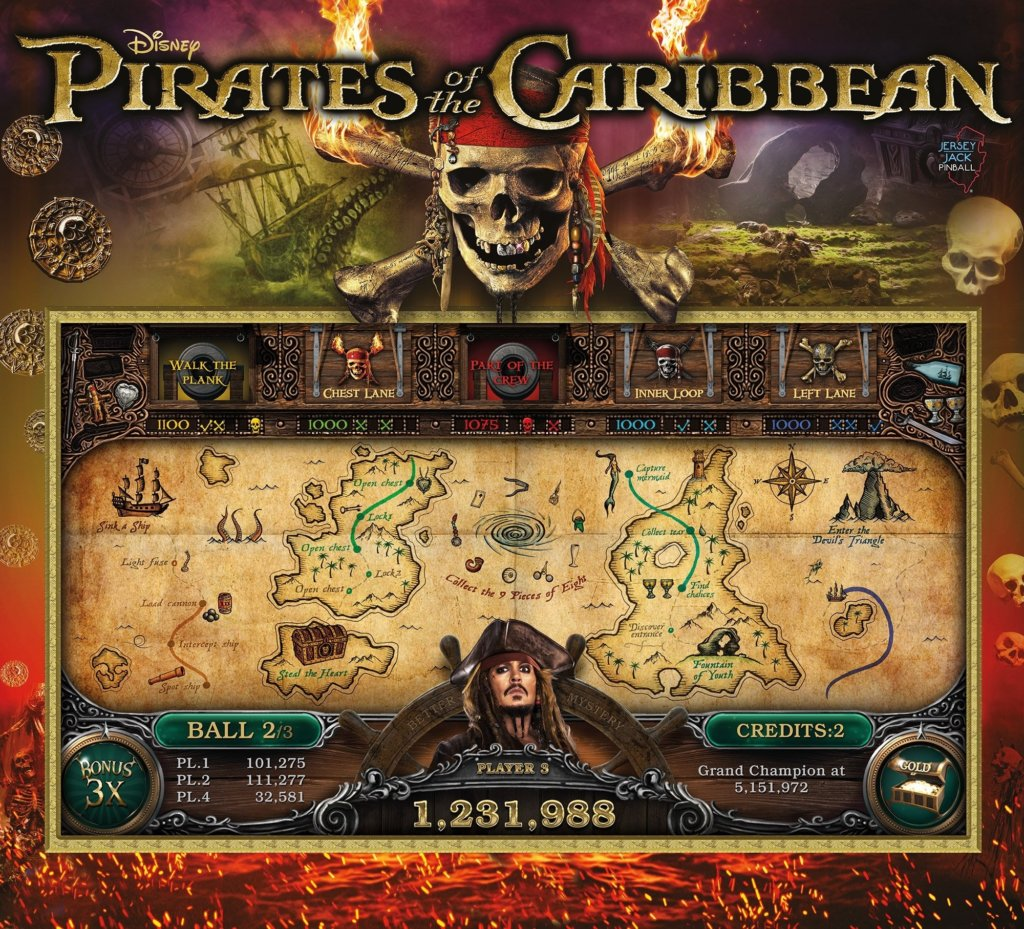 Pirates of the Caribbean (LE) Pinball Mods