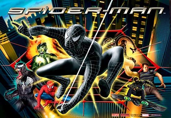 Black Spider-Man Pinball Mods