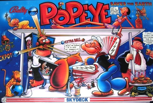 Popeye Saves the Earth Pinball Mods