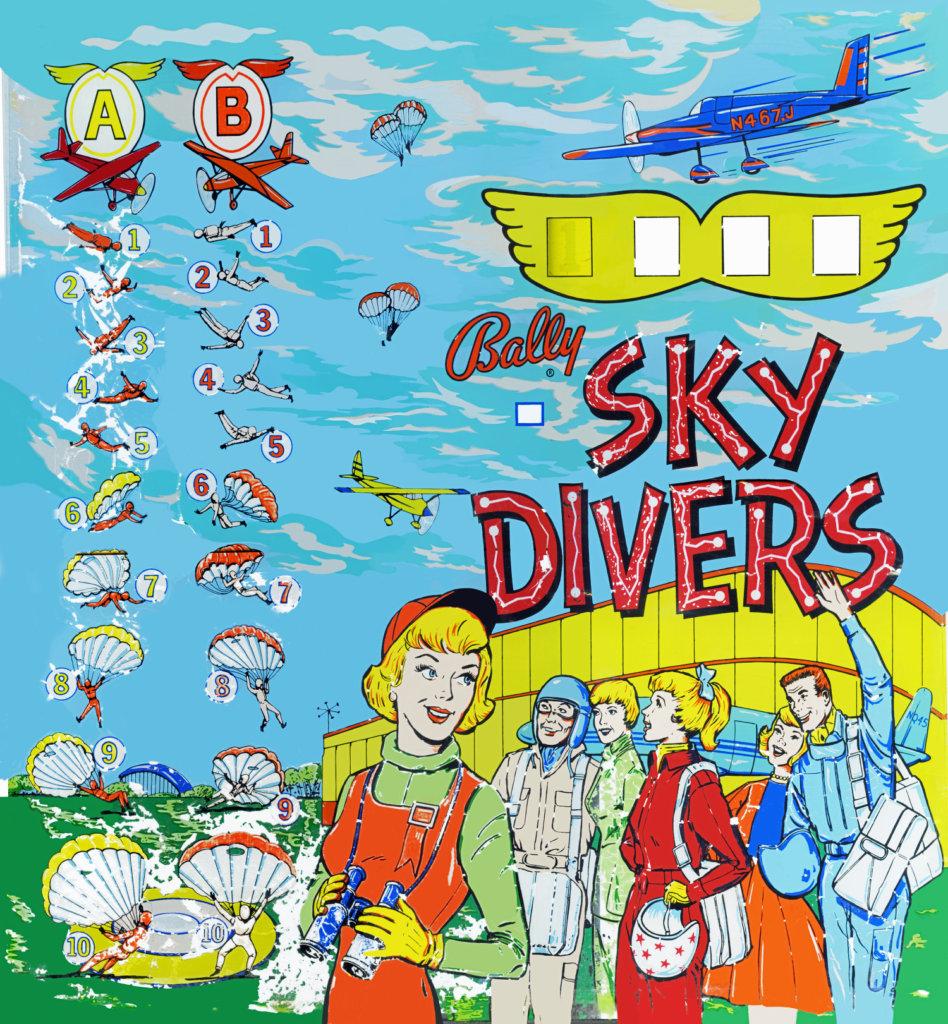 Sky Divers Pinball Mods