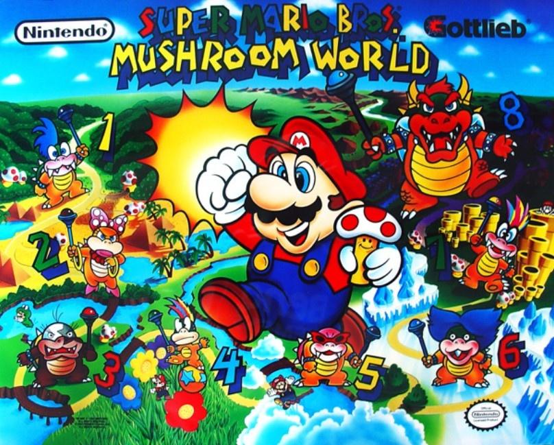 Super Mario Bros. Mushroom World Pinball Mods