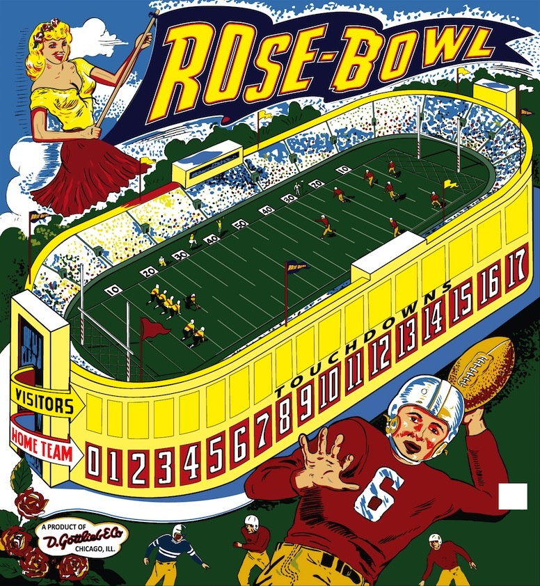 Rose-Bowl Pinball Mods