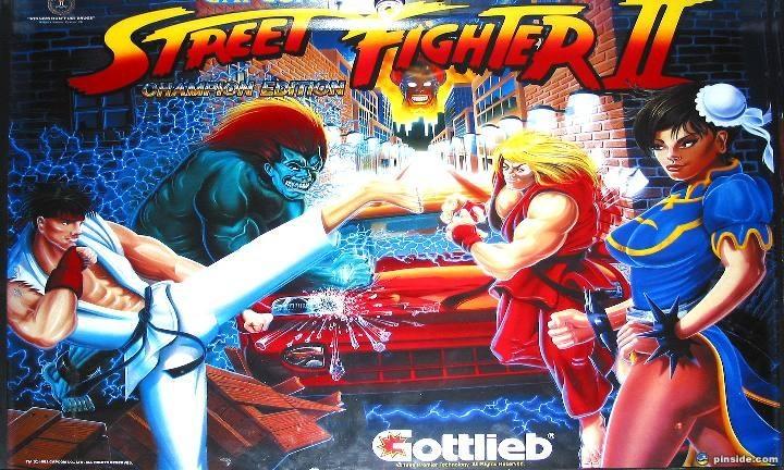 Street Fighter II Pinball Mods