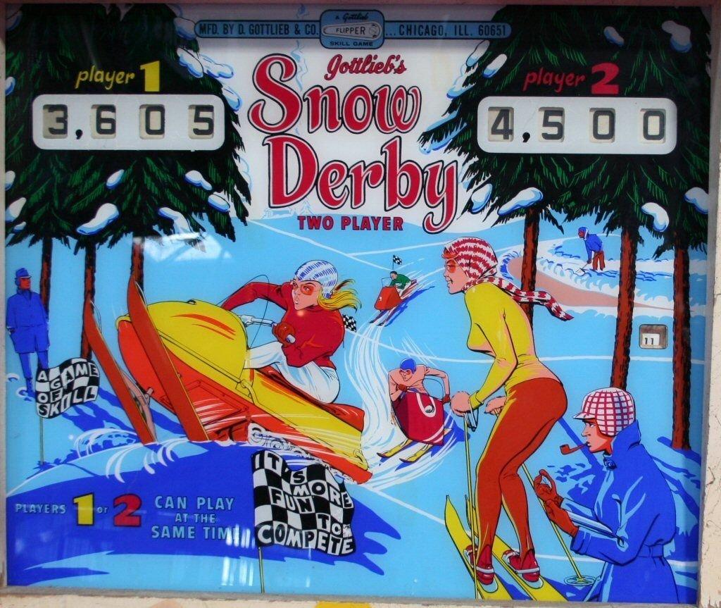 Snow Derby Pinball Mods
