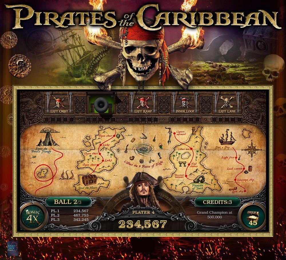 Pirates of the Caribbean Pinball Mods
